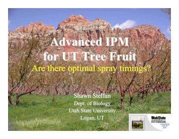 Advanced IPM for UT Tree Fruit - Utah Pests - Utah State University