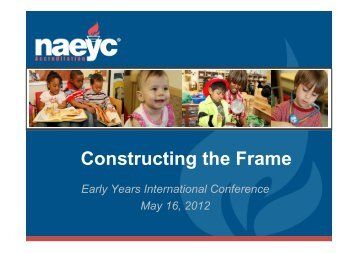 Download presentation here - Early Years