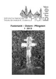 Pfarrbrief 01-2013 - Stadtpfarrei Grafenau