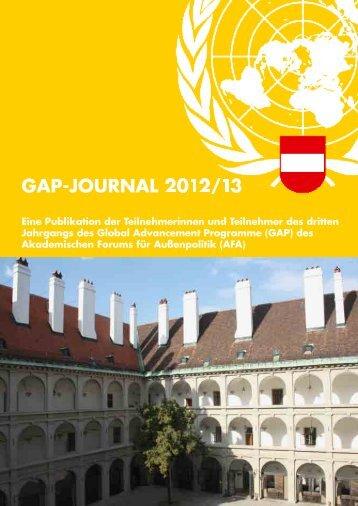 GAP-JOURNAL 2012/13 - AFA