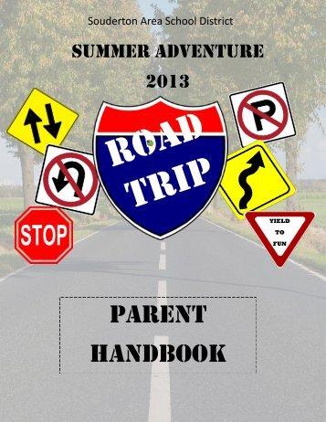 Summer Adventure Parent Handbook - Souderton Area School ...