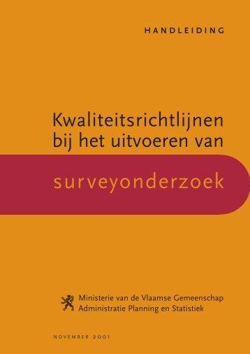 Kwaliteitsrichtlijnen bij het uitvoeren van ... - Vlaanderen.be