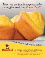 Mélange á muffins au babeurre Robin Hood - Cargill Foods