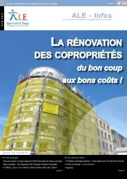 LA RÉNOVATION DES COPROPRIÉTÉS - ALE