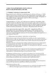 1 krav til rapportering om planer og resultatrapportering for ... - DBH