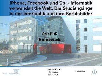 iPhone, Facebook und Co. - Informatik verwandelt ... - TUM-Schüler