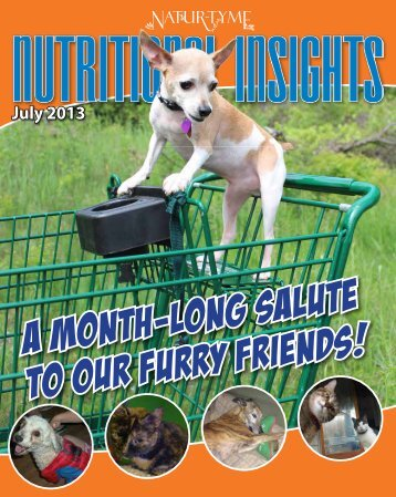 A Month-Long Salute to Our Furry Friends! - Natur-Tyme