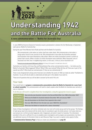Battle for Australia Day - DEFENCE 2020