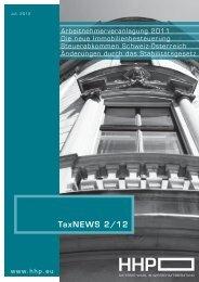 TaxNEWS 2/12 - HHP - Hammerschmied Hohenegger und Partner