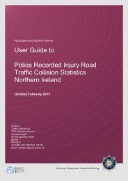 Traffic User Guide - Police Service of Northern Ireland