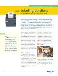 epson solutions for retail and hospitality - The Barcode