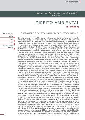 Informativo Ambiental - Fevereiro - 2004