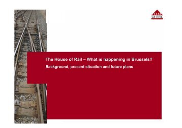 The House of Rail – What is happening in Brussels? - UIP