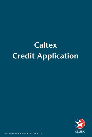 Caltex Credit Application