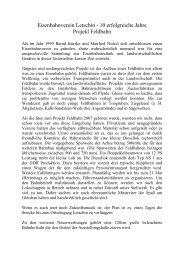 Eisenbahnverein Letschin - 10 erfolgreiche Jahre Projekt Feldbahn