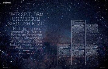 """""""Wir sind dem Universum ziemlich egal"""" (pdf, 1.8 ... - Universität Bern"""