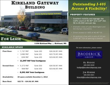 kirkland gateway building for lease