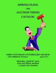 spring fling auction thing catalog - The First Unitarian Church of ...