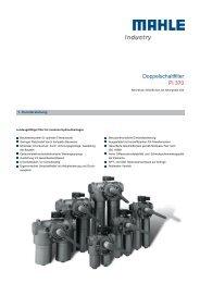 Doppelschaltfilter Pi 370 - MAHLE Industry - Filtration
