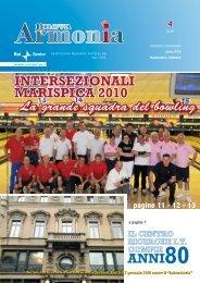 Armonia quarto numero anno 2010.