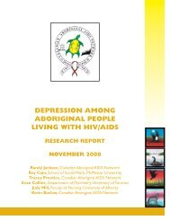 DEPRESSION AMONG ABORIGINAL PEOPLE LIVING WITH HIV/AIDS