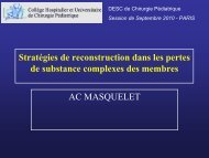 Stratégies en traumatologie - AC MASQUELET - SOFOP