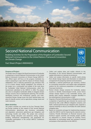 Second National Communication - United Nations in Cambodia