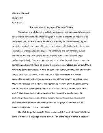 How To Write A Research Essay Thesis Hnrs  Final Essay Into The Wild Essay Thesis also Thesis For A Persuasive Essay In The Ideals Of The Cons Essay In English Language