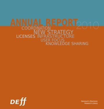 DEFF Annual Report 2010
