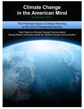 Yale GM_Potential Impact of GW on the 2012 Pres ... - Climate Access