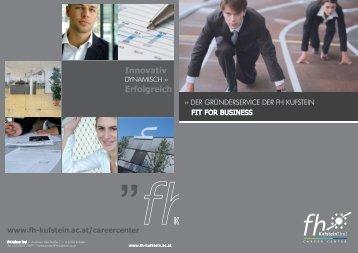 Innovativ Erfolgreich - FH Kufstein Tirol