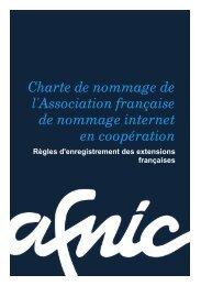 charte de nommage - Afnic