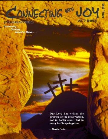 Newsletter 4-10 - JOY Lutheran Church