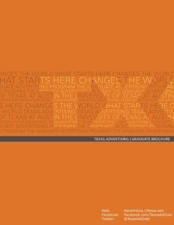 Graduate Brochure - Department of Advertising - The University of ...