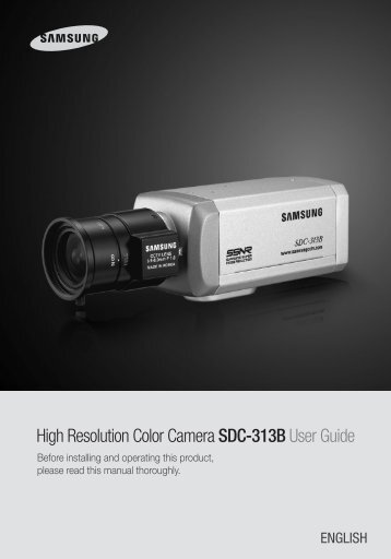 High Resolution Color Camera SDC-313B User Guide - DOMUSWIRE