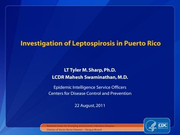Leptospirosis in Puerto Rico - Caribvet