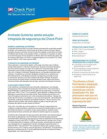 Andrade Gutierrez adota solução integrada de segurança da Check ...