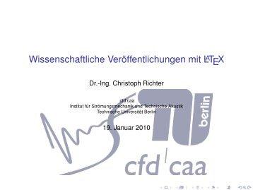Wissenschaftliche Veröffentlichungen mit LATEX - CFD - TU Berlin