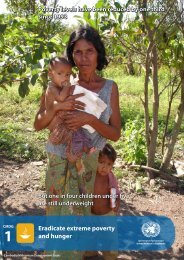 Eradicate extreme poverty and hunger But one in four children ...