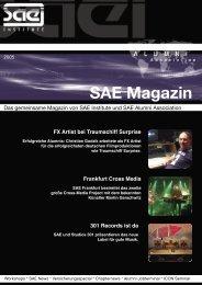 SAE Magazin_final_2001.indd - SAE Alumni Association - SAE ...