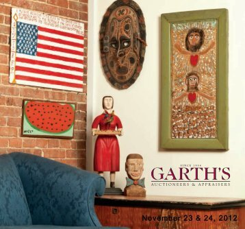 November 23 & 24, 2012 - Garth's Auctions, Inc.