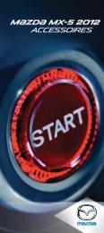 Brochure des accessoires de la MX-5 2012 - Mazda Canada