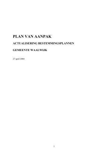 Plan van aanpak actualiseren bestemmingsplannen - Gemeente ...