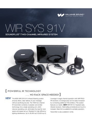 WIR SYS 91v Sell sheet - Williams Sound