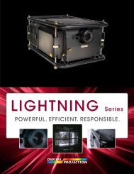 LIGHTNING Series Brochure - Digital Projection
