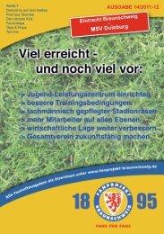 Heft 14: MSV Duisburg - FanPresse Braunschweig