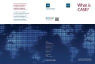 CASE informational brochure