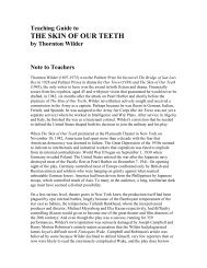 Teaching Guide to THE SKIN OF OUR TEETH by Thornton Wilder ...