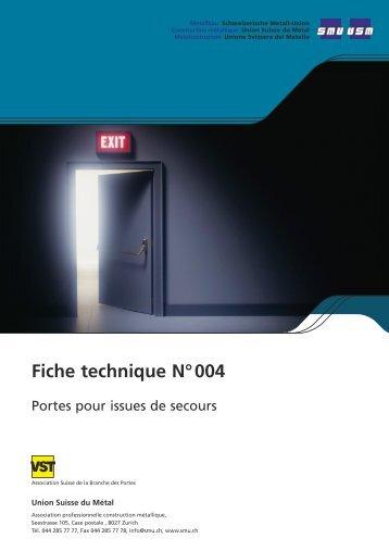 Fiche technique N° 004
