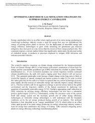 Optimizing greenhouse gas mitigation strategies to suppress energy